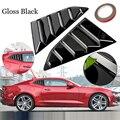 39 5*25 8 см 1 пара черный глянец PP задние боковые вентиляционные отверстия окна жалюзи автомобиля совок крышка для Chevy Camaro 2016-2018 отделка автомоб...