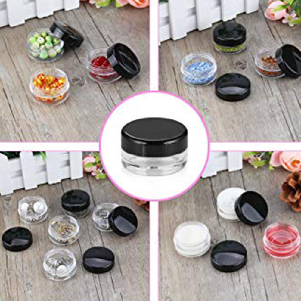 5g Mini Sample Eye Cream Packing Box Container Packaging 50 pcs Transparent Plastic Cream Bottle Empty Cream Jar in Refillable Bottles from Beauty Health