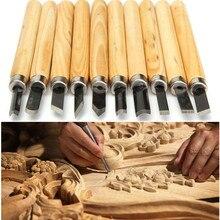 DOERSUPP 10pcs/lot Wood Carving Chisels Knife For Basic Wood