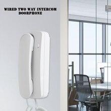 AC/DC Домашняя безопасность проводной домофон 200 м сильный сигнал Аудио Телефон двери DIY настенное крепление для домашнего офиса складов
