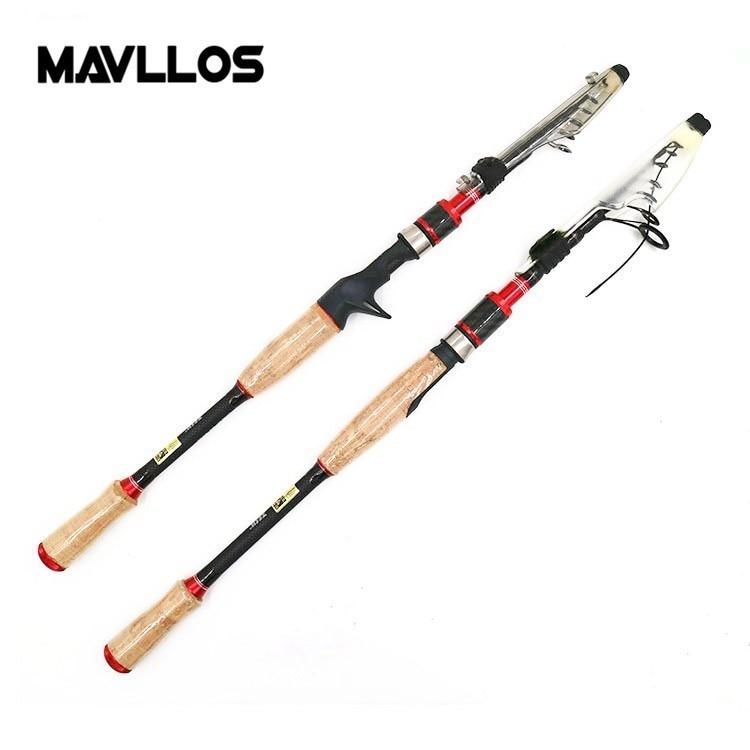 Mavllos ултралактен скален риболовен прът M Твърдост 2.1M 2.4M 2.7M примамващ тегло 3 / 8-4 / 3oz въглероден риболовен телескопичен прът