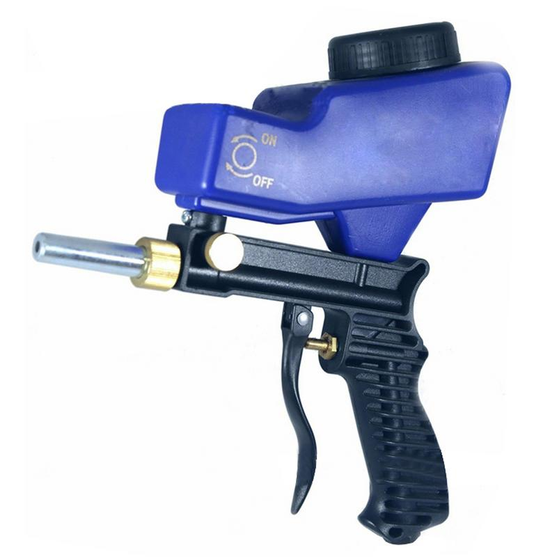 Portátil la gravedad de chorro de arena arma neumático de chorro de arena de óxido de limpieza dispositivo pequeña máquina de chorro de arena