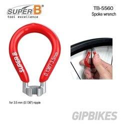 MTB szosowe narzędzia do naprawy roweru Super B szprychy precyzyjnie wielkości chromowana stal hartowana klucz TB-5560 klucz 0.136