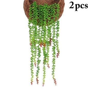2 uds artificiales vid realista falso planta suculenta Artificial simulación Buda flores para casa interior decoración suministros