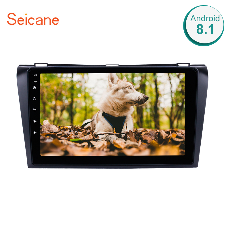 Seicane 2Din Navi Android 10.0 HD 9 GPS Car Radio Multimedia Player For Mazda 3 2004-2009 Head Unit Touchscreen Stereo 4-Core image