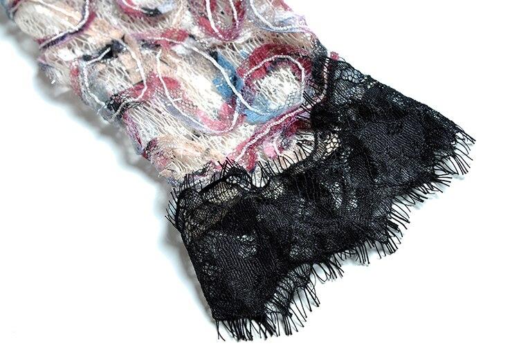 Femme O A Pour Crochet Blanc D'été Fête cou 4 De Les Décontracté Plage en Robe 3 Robes Manches 2019 ligne Femmes Tenue dentelle Midi Arc Sqz618