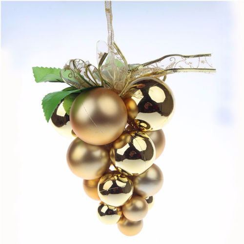 Merry Christmas Grape Balls Hanging Ornament Christmas Tree  Decoration Party supplies for New Year  gold rose red blue