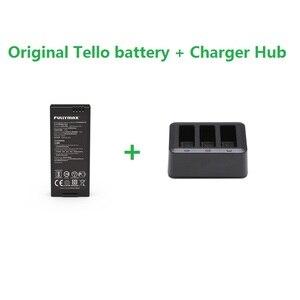 Image 1 - Оригинальная Полетная батарея Tello и зарядное устройство 3 в 1, концентратор 1100 мАч 3,8 в, зарядный концентратор для батарей, аксессуары для DJI Tello Drone