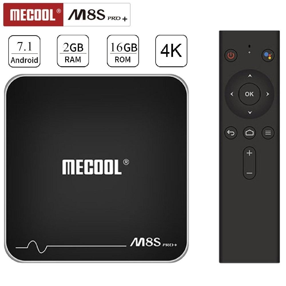 MECOOL M8S PRO + Android 7.1 Smart TV Box 4 K Telecomando Vocale Amlogic S905W 2 GB 16 GB WiFi 100 Mbps BT4.2 Set Top Box PK x96mini
