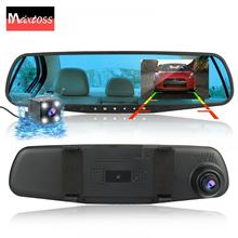 4,3 «Автомобильный Dvr Dash Cam Зеркало 1080 P полный HD с двумя линзами заднего вида камера заднего вида Dashcam Авто рекордер Видео 170 тире камера
