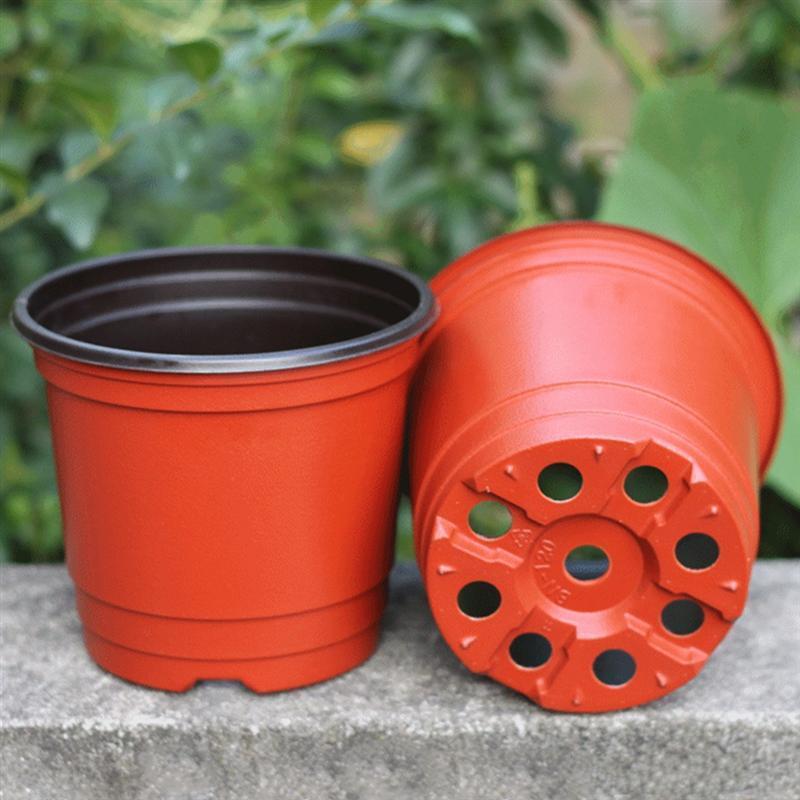 10PCS Plant Flower Pots Plastic Starting Two-Tone Universal Soft Flowers Nursery Seeds Storage Pots Container Garden Decoration
