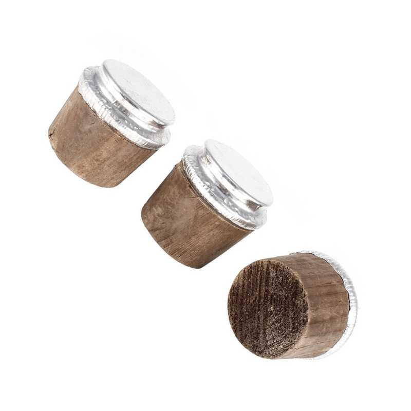 37 Mm Diameter Bawah Kayu Botol Termos Botol Cork Perak Nada 3 Buah