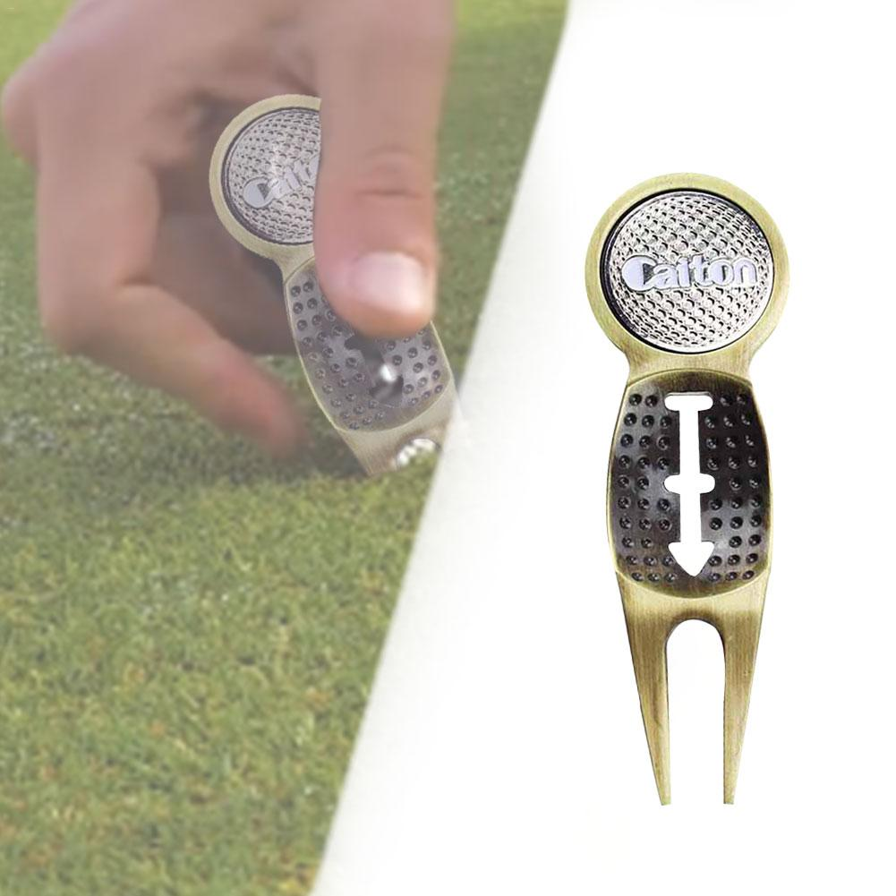New small Golf Divot Tool Metal Green Hardware Tools Golf Accessories Sports Entertainment Golf Accessories support wholesale-in Golf Training Aids from Sports & Entertainment
