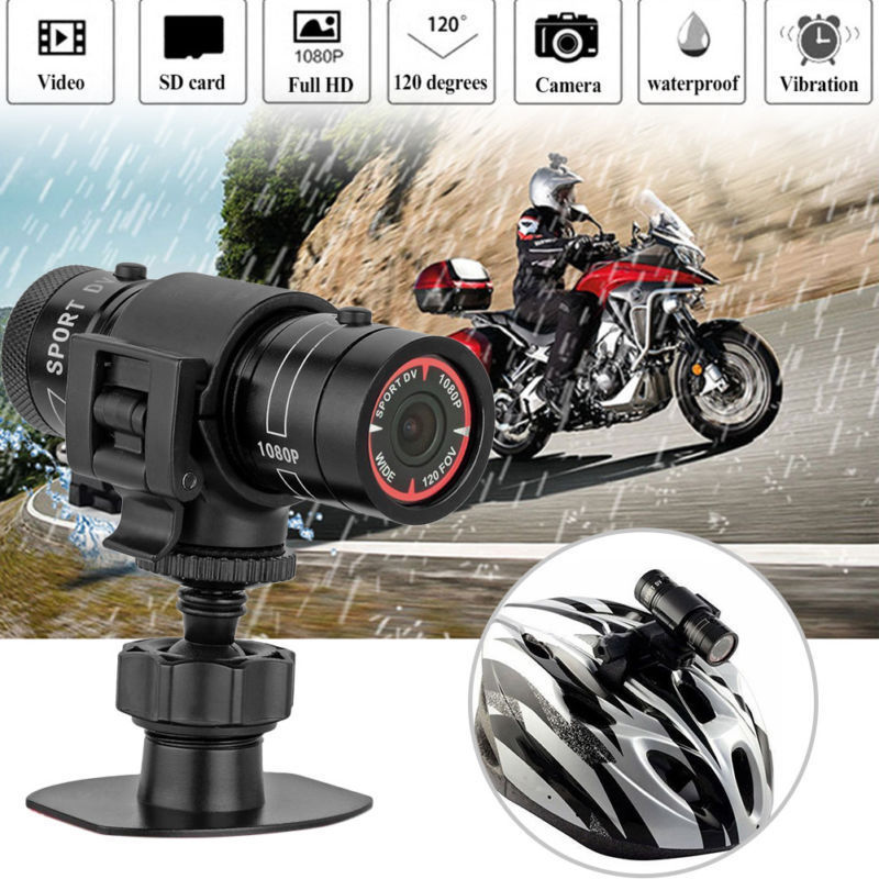Mini F9 HD 1080P Bike Motorcycle Helmet Sport Camera Video Recorder DV Camcorder
