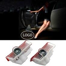 2 40pcs For AMG Logo Car Door Emblem Projector Ghost Shadow Door Light For Mercedes A