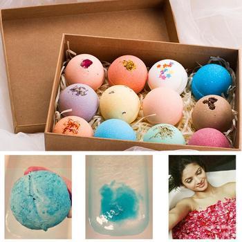 Hot 12pc 60g Organic Bath Salt Body Essential Oil Bath Ball Natural Bubble Bath Bombs Ball Rose/Green Tea/Lavender/Lemon/Milk