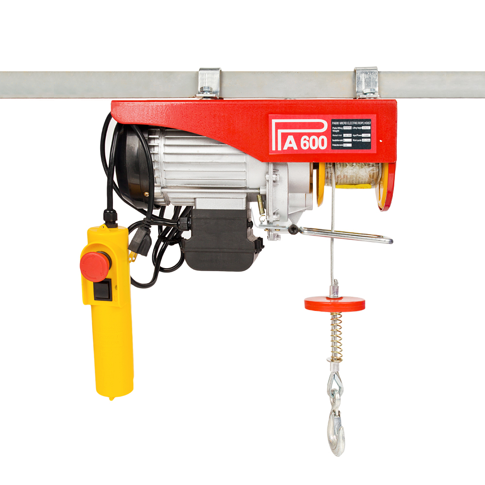 300-600KG 220v Mini Electric Hoisting Machine With Wire Rope Pulling PA600