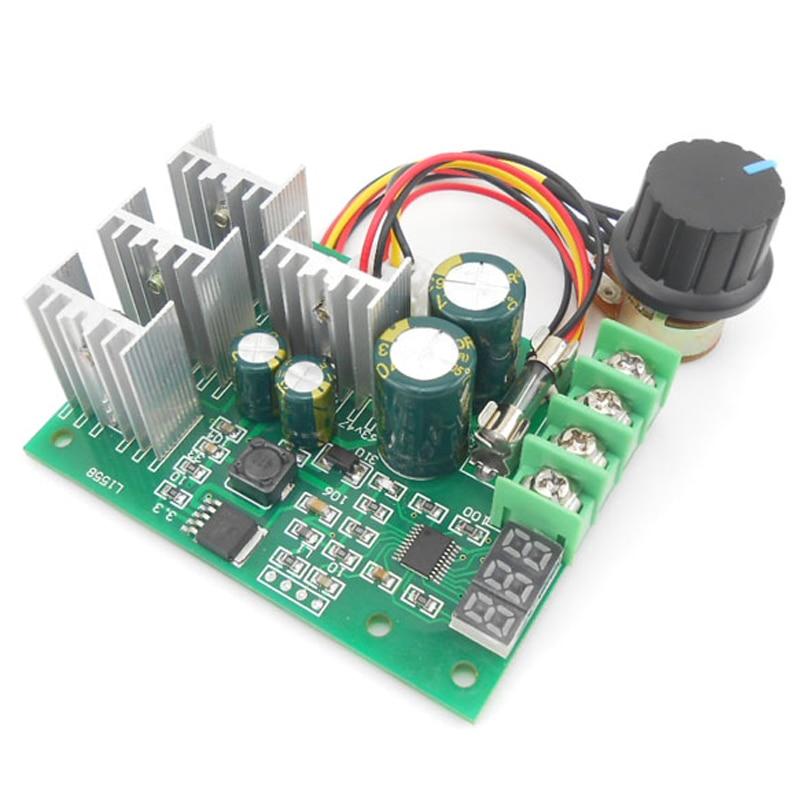 Pwm Speed Controller Dc Motor Digital Display 0~100% Adjustable Drive Module Input 6v-60v 30a Motor Controller