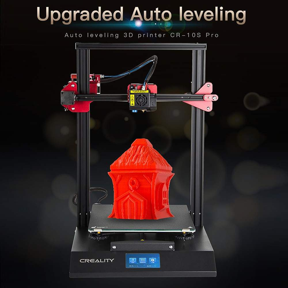 Creality 3D CR-10S Pro DIY 3D Kit de impresora 300*300*400mm Tamaño de impresión colorido para Touch LCD reanudar la impresión de detección