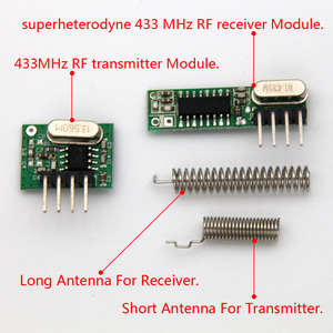 Image 2 - 1Set superheterodyne 433Mhz RF transmitter and receiver Module kit small size For Arduino uno Diy kits 433mhz remote controls