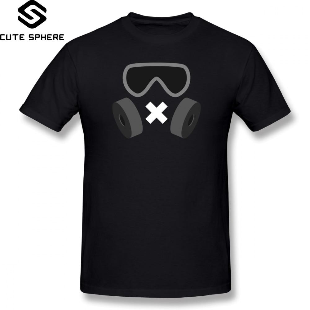 Rainbow Six T Shirt Mute T-Shirt 100 Percent Cotton 6xl Tee Shirt Graphic Short-Sleeve Fun Basic Man Tshirt