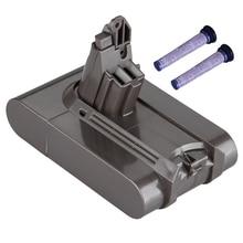 цены Filter V6 21.6V 3000Mah Li-Ion Battery For Dyson V6 Battery For Dc58 Dc59 Dc61 Dc62 Vacuum Cleaner Sv09 Sv07 Sv03 Sv04 Sv06