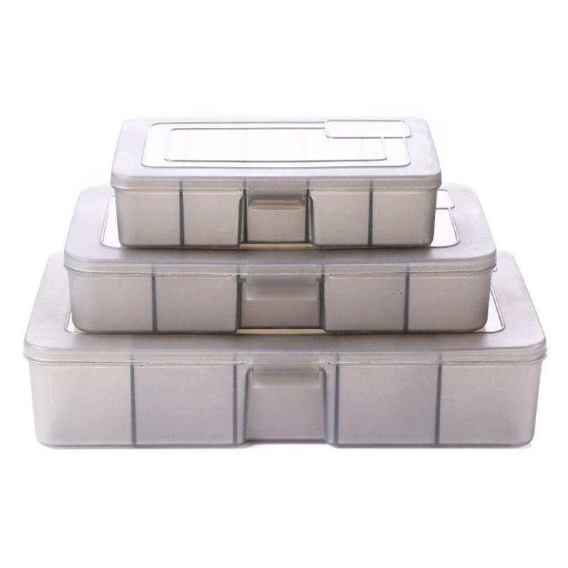 5 Compartment Fishing Tool Tackle Sorting Box Plastic Fishing Tackle Bait Lure Hooks Storage Case Organizer S M L Size