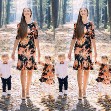 Mother and Daughter Matching Floral Casual Dresses