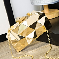 Geometry Clutch Evening Bag Elegent Chain Women Handbag For Party Shoulder Bag For Wedding/Dating/Party