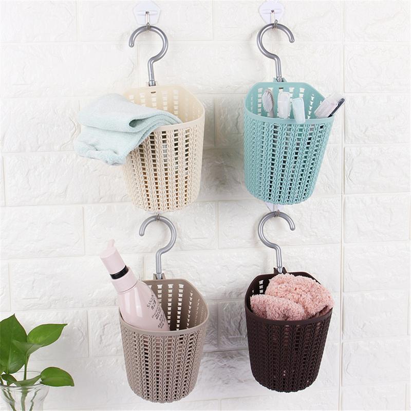 Portable Hook Storage Baskets Knitted Household Decoration Wall Hanging Holder Bathroom Kitchen Supplies Hanging Basket Storage