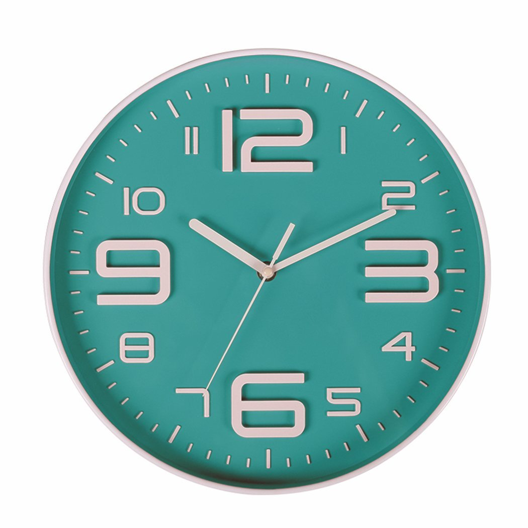 Indoor Big 3D Number Silent Wall Clock Quiet Sweep Movement Wall Clocks Battery Operated 10 Inch-HOT