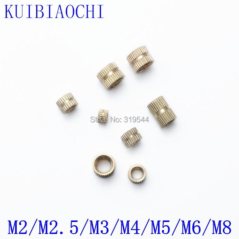 100PCS/20PCS/10PCS M2 M2.5 M3 M4 M5 M6 M8 Brass Insert Nut Injection Molding Brass Knurled Thread Inserts Nuts
