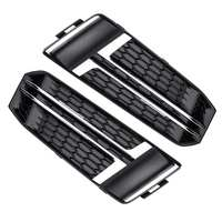 A4 B9 Car Front Bumper Fog Light Lamp Cover Trim Grille Grill For 2016 2018 For Audi A4 B9 S LINE 8W0807681F 8W0807682F
