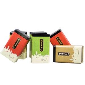 Image 5 - Xin Jia Yi Verpakking Thee Metalen Doos Koran Pakket Gift Box Wijn Fles 18 inch Grote Maat Hot Koop Kleurrijke groene Thee Blikje