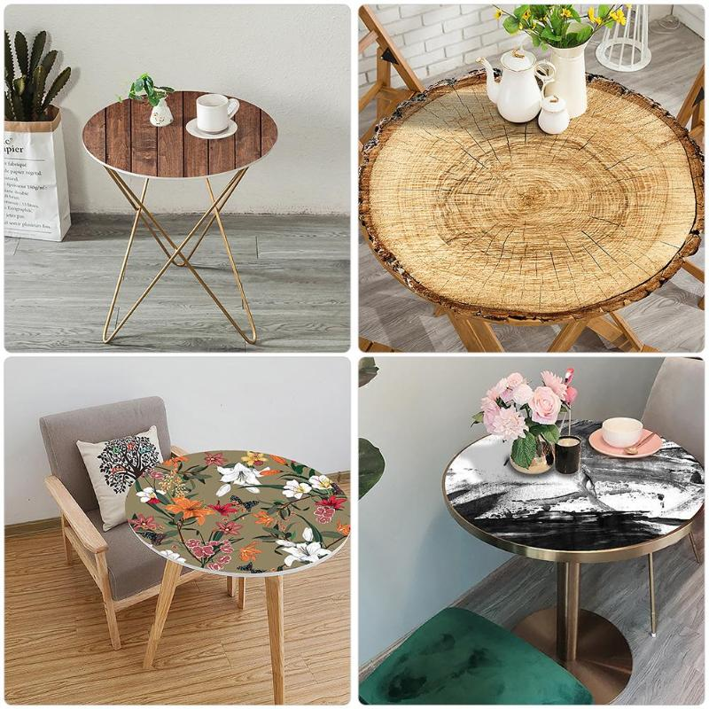 Furniture Protection Round Table Sticker Self Adhesive 3D PVC Film Decals