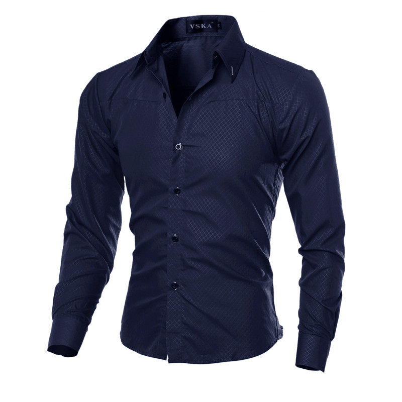 5XL Plus Size Brand-clothing Cotton Mens Clothing Solid Soft Men Shirt Long Sleeve Mens Shirts Casual Slim Fit Hot Sale