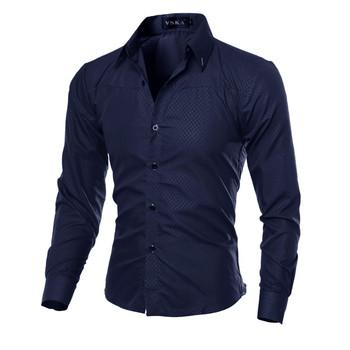 5XL Plus rozmiar marka-odzież bawełniana odzież męska solidna miękka koszula męska z długim rękawem męskie koszule Casual Slim Fit gorąca sprzedaż tanie i dobre opinie Tuxedo koszule COTTON Poliester Pełna MANDARIN COLLAR Na co dzień Suknem M-5XL REGULAR Plaid Pojedyncze piersi Collar type