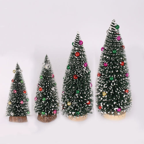 Artificial Mini Christmas Tree Small Artificial Sisal Snow ...