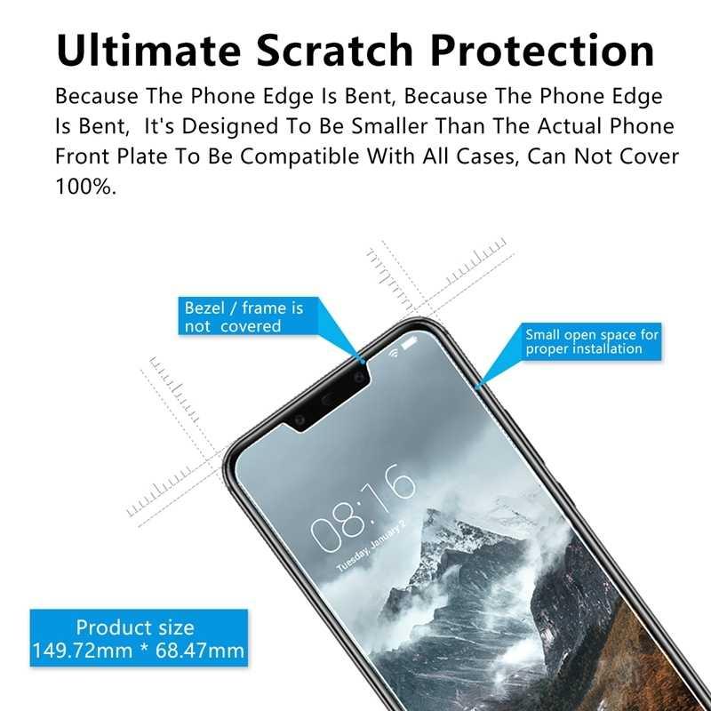 Transparan Layar Kaca untuk Huawei P20 Mate20 20x Note10 8 P20 Lite 9 H HD Kaca untuk Kemuliaan 10 8X 7X V10 Lite Tempered Glass Film