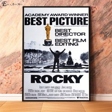 Rocky Balboa 1976 Classic Movie Poster Prints Oil Painting On Canvas Wall Art Murals Pictures For Bedroom Decoration No Framed