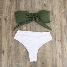 Women High Waist Mixed Color Bikini Set Cut Swimwear Push Up Bathing Suit Brazil Sexy Hot Female Swimming Beach Wear