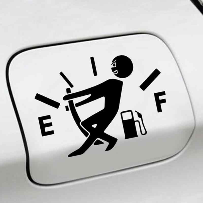 Grappige Auto Sticker Pull Brandstoftank Pointer naar Volledige Reflecterende Vinyl Auto Fuel Tank Decal Auto Stickers