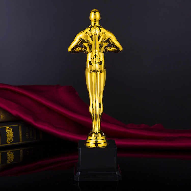 Лучший Оскар Статуэтка-трофей индивидуальные позолоченные Кубок Оскар чемпионский трофей оригинальность подарок Оскар репродукция награды медаль победителя