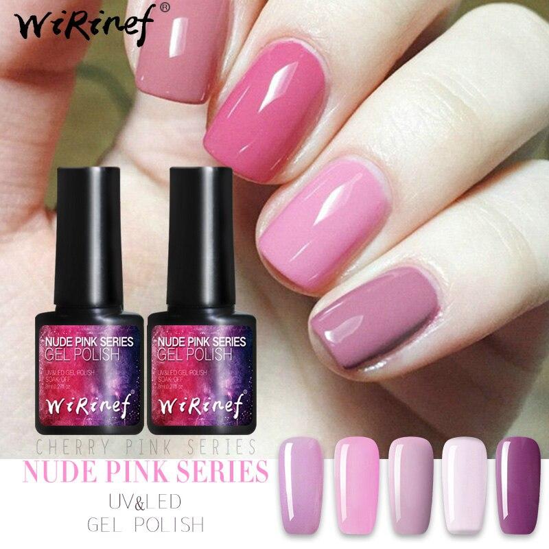 AwsmColor Gel Nail Polish Set Soak Off Glitter Pink Nude