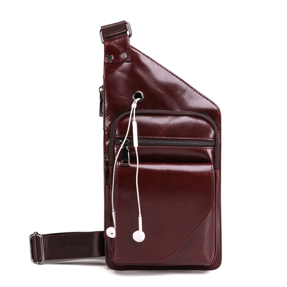 Vintage Men Handbag Cow Leather Men Messenger Crossbody Bag Fashion Men s Handbag Men Chest Bag