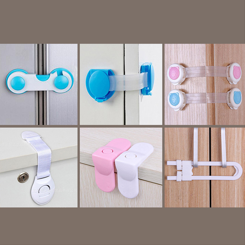Child Protective Goods For Unlocking Baby Anti-clip Hand Safety Lock Refrigerator Drawer Anti-opening Protection Lock