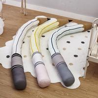 Baby Bed Bumper Baby Bed Decor Tricolor Pencil Crib Bumper Protector Infant Room Decor