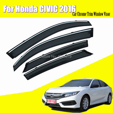 Car Sun Visor Window Rain Shade for Plastic Accessories For Honda Civic 2016
