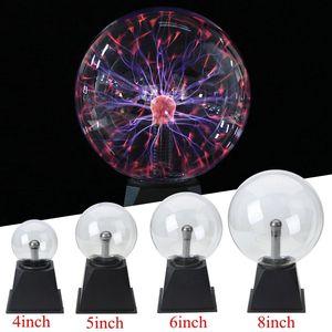 Image 4 - 4/5/6/8 マジッククリスタルグローブデスクトップランププラズマボール 8 ワット 12 v タッチ星雲ライト装飾ホームパーティーカフェバー