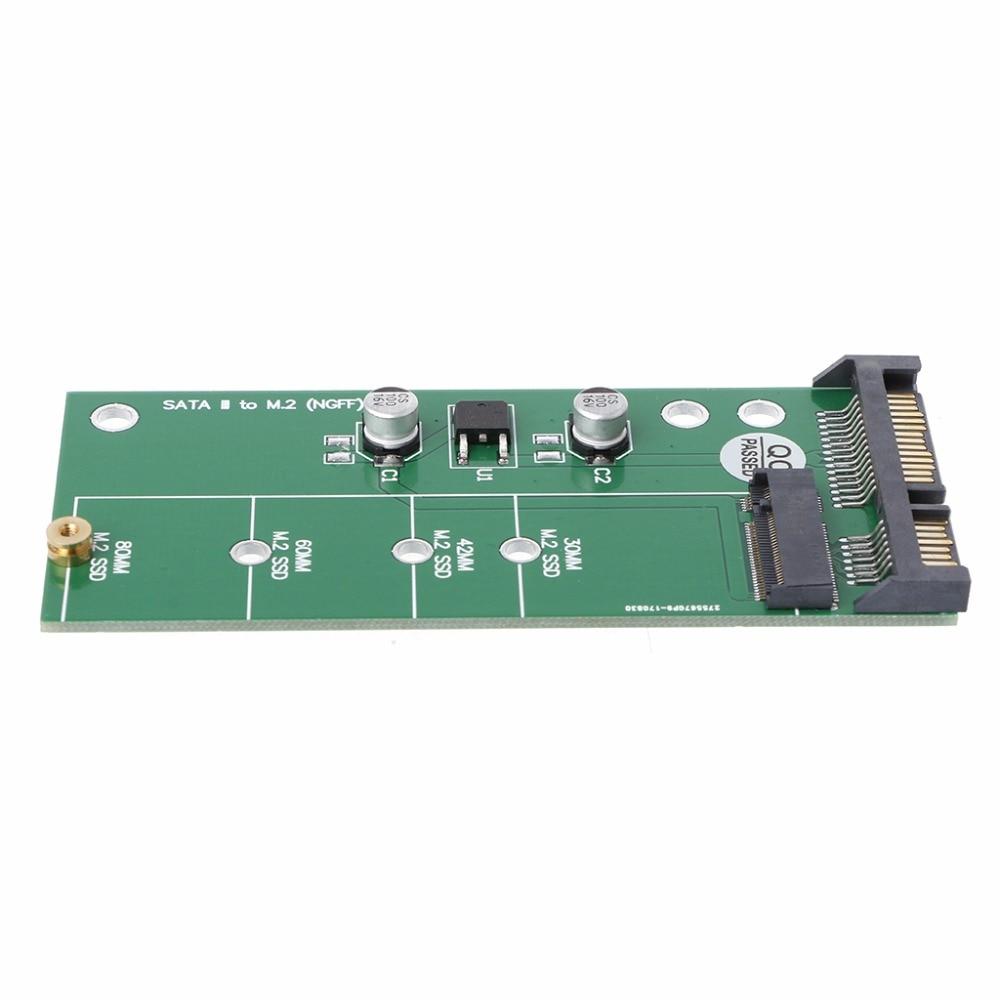 Ngff (M2) ssd de 2,5 pulgadas a Sata adaptador de M.2 Ngff Ssd a Sata3 convertir adaptador de tarjeta/30/42/ 60/80 Mm M.2 Ssd disco duro